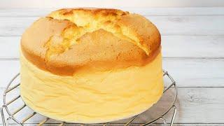 焼きっぱなしのほかほかスフレチーズケーキJapanese Souffle Cheesecake