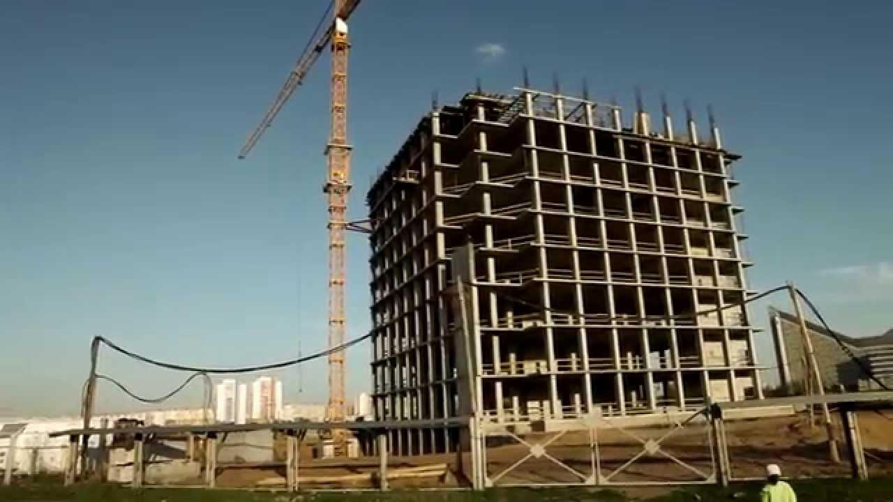 Стройка напротив гипермаркета Би-Март Минск Уручье (HD) - YouTube