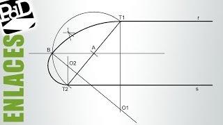 Enlace de 2 rectas paralelas por 2 puntos con arcos del mismo sentido, pero distinto radio.