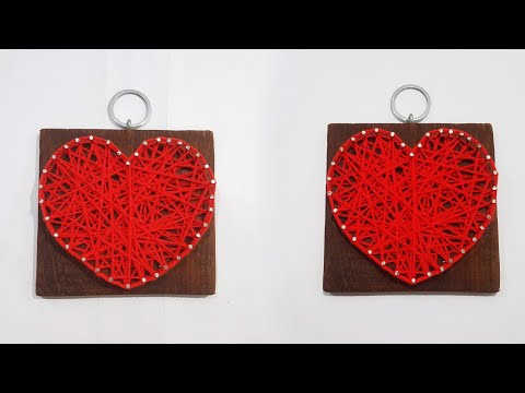How to Make String Art |Valentine's Day Gift Idea |DIY String Heart |Heart Shaped Wall Hanging |DIY|