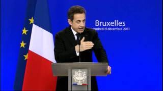 Nicolas Sarkozy press conference, Brussels, December 2011