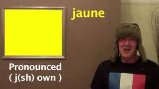 Learn French - Colours in French - French Lessons with Jingle Jeff   #learnfrench