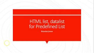 use HTML datalist to provide autocomplete values for input