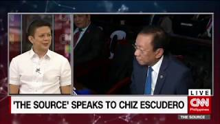 'The Source' speaks to Senator Chiz Escudero