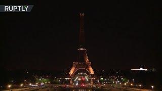 Эйфелева башня погасла в память о жертвах терактов в Лондоне