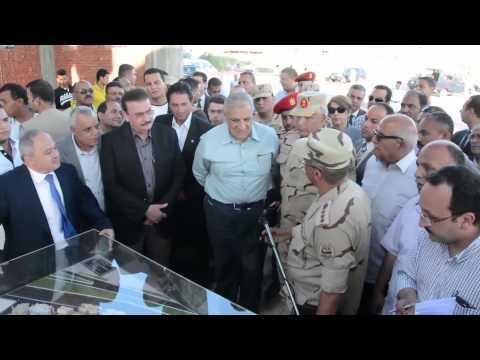 شاهد : رئيس الوزراء يتفقد اعمال التطوير الحضاري بمشروع  مساكن غيط العنب
