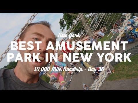 BEST AMUSEMENT PARK IN NEW YORK: Rye Playland   10K Road Trip Vlog 36