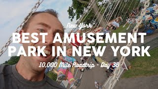 BEST AMUSEMENT PARK IN NEW YORK: Rye Playland | 10K Road Trip Vlog 36