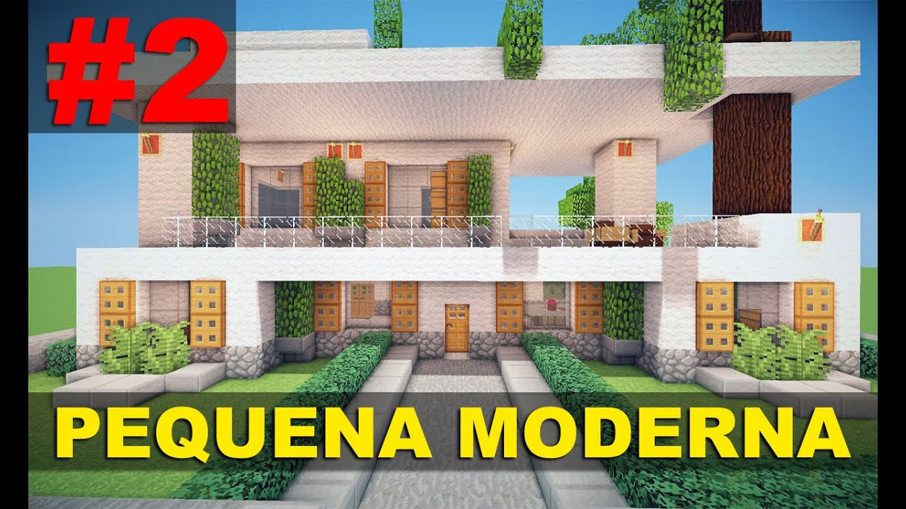 Minecraft tutorial pequena casa moderna 1 parte 2 for Casa moderna 2 minecraft
