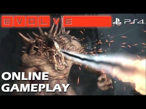 Evolve (PS4) - Online Multiplayer Gameplay Skirmish 4v1 (Assault Class)