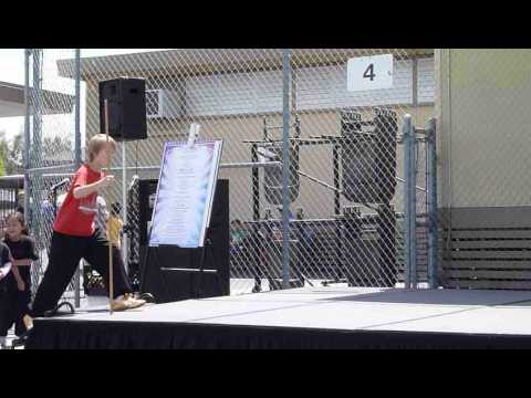 San Diego Wushu Center performed at Dingeman Elementary School's World's Fair 2015