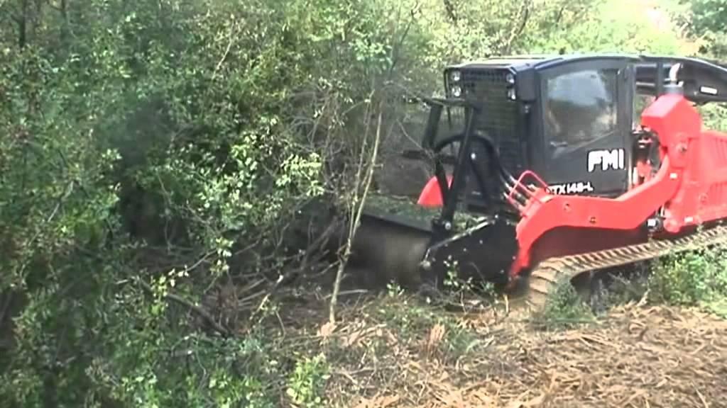 Forestry Mulcher Ftx148l Bull Hog Fecon Youtube