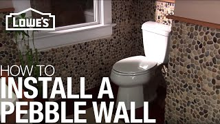 Install a Pebble Tile Accent Wall: Installation