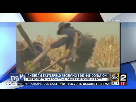 President Trump donates money to Antietam Battlefield in Maryland