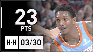 Lou Williams Full Highlights Clippers vs Blazers (2018.03.30) - 23 Pts!