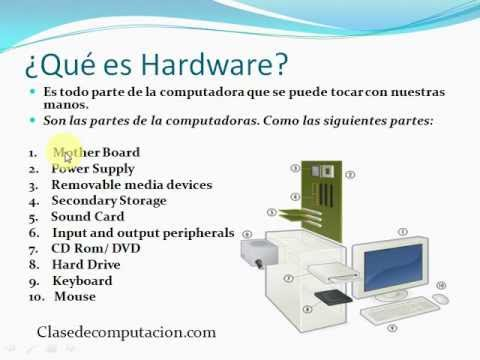 que es hardware y software youtube