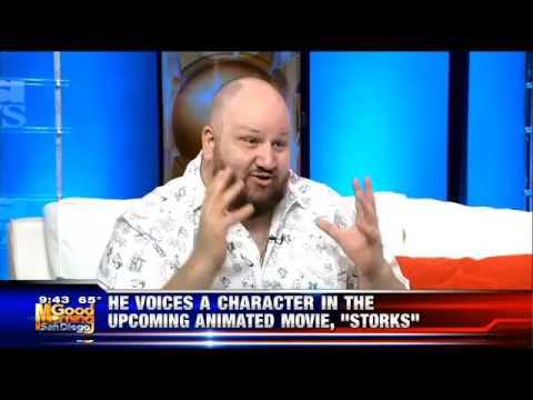 Stephen Kramer Glickman on KUSI talking Stand Up. Singing and Storks the Movie