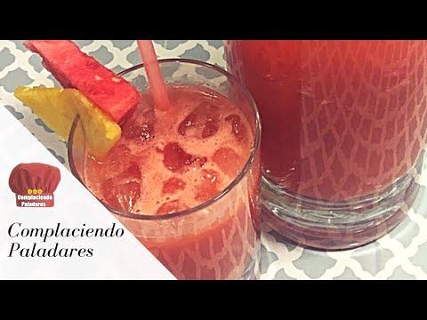 AGUA FRESCA DE SANDIA Y PIÑA / Watermelon and Pineapple fresh beverage-Complaciendo Paladares