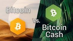 Bitcoin Cash vs Bitcoin (BCH vs BTC, Bitcoin fork)