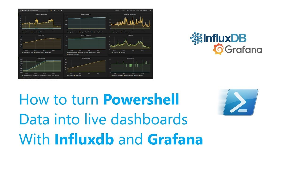 How to turn Powershell data into dashboards with Influxdb and Grafana