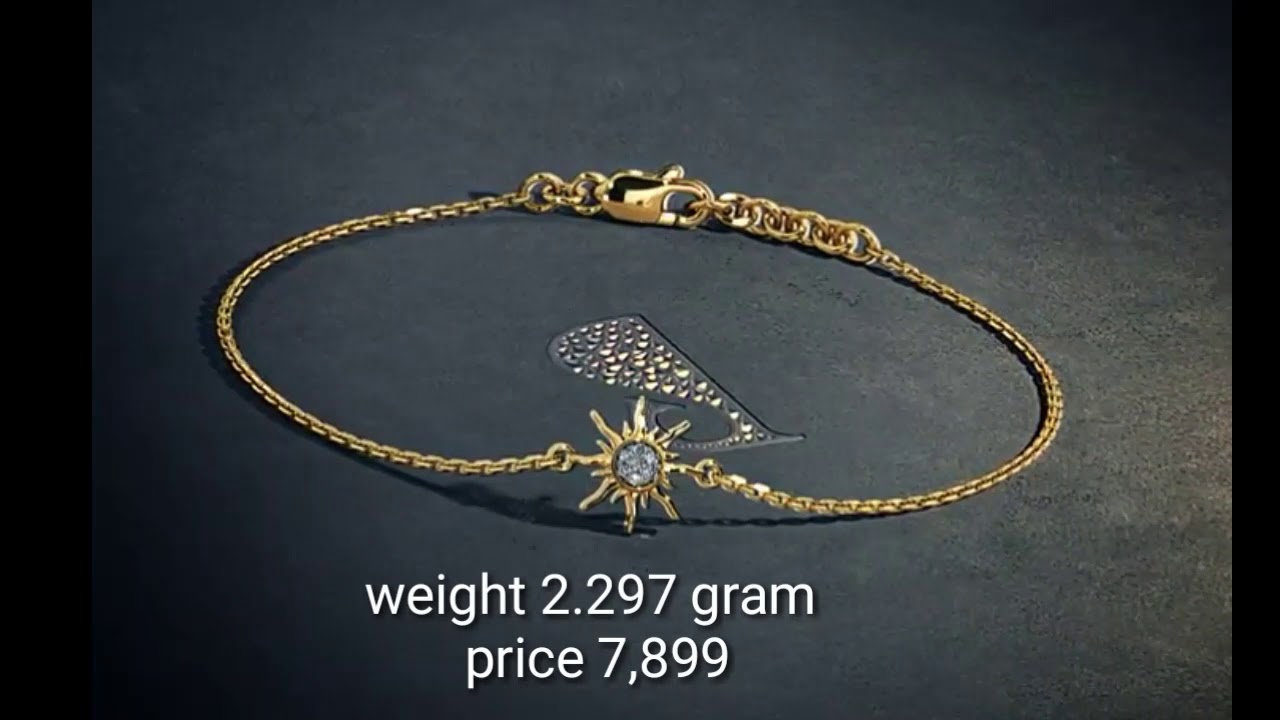 Bracelet Designs In Gold With Weight And Price