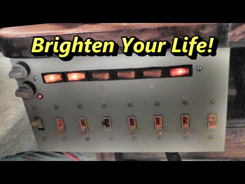 Circuit Board Repairs, Power Outage Backup System, Dimmer Pannel Demo,  New Projects