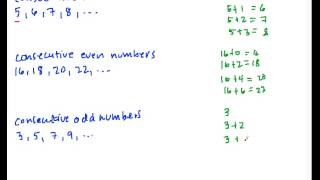 How to Solve Consecutive Number Problems Part 1