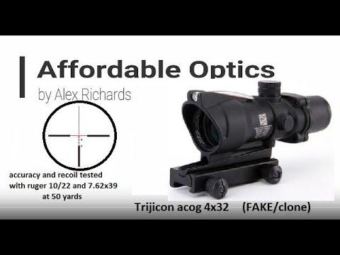 FAKE:  Trijiicon ACOG 4x32 Testing An Review