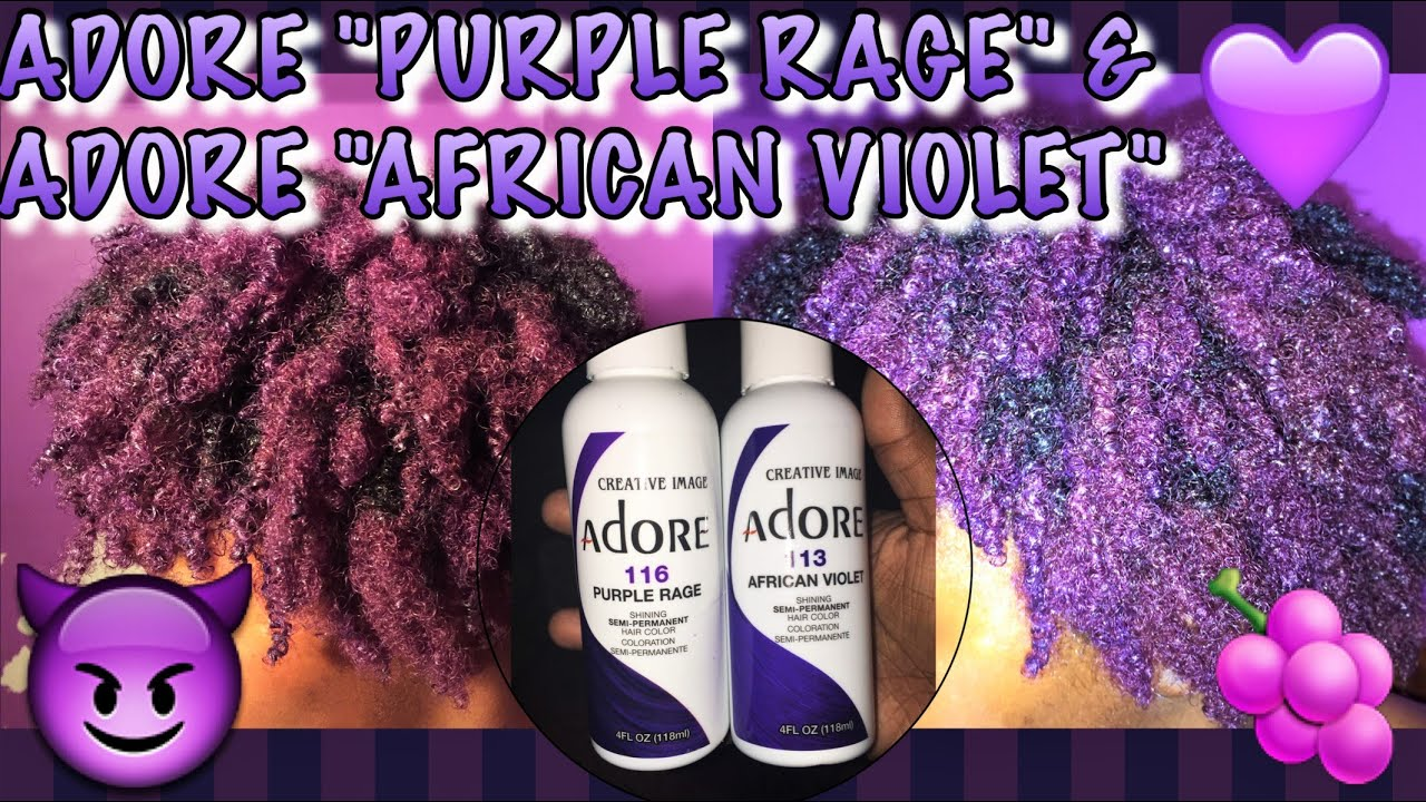 2016 Coloring Natural 4a 4b Hair Adore Purple Rage African Violet Part 2