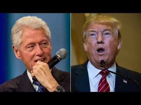Donald Trump attacks Bill Clinton's past infidelity
