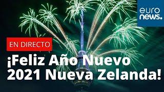 ¡Feliz Año Nuevo Nueva Zelanda! Auckland da la bienvenida al 2021 con fuegos artificiales #felizanon