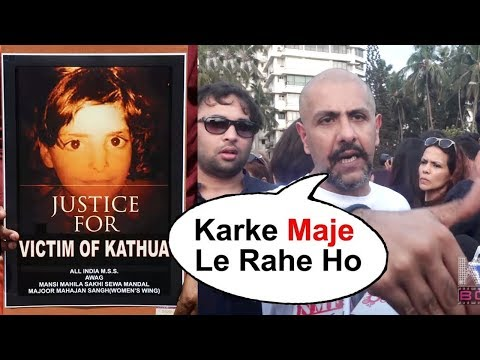 Vishal Dadlani LASHES Out A Person At Asifa Justice Protest In Mumbai