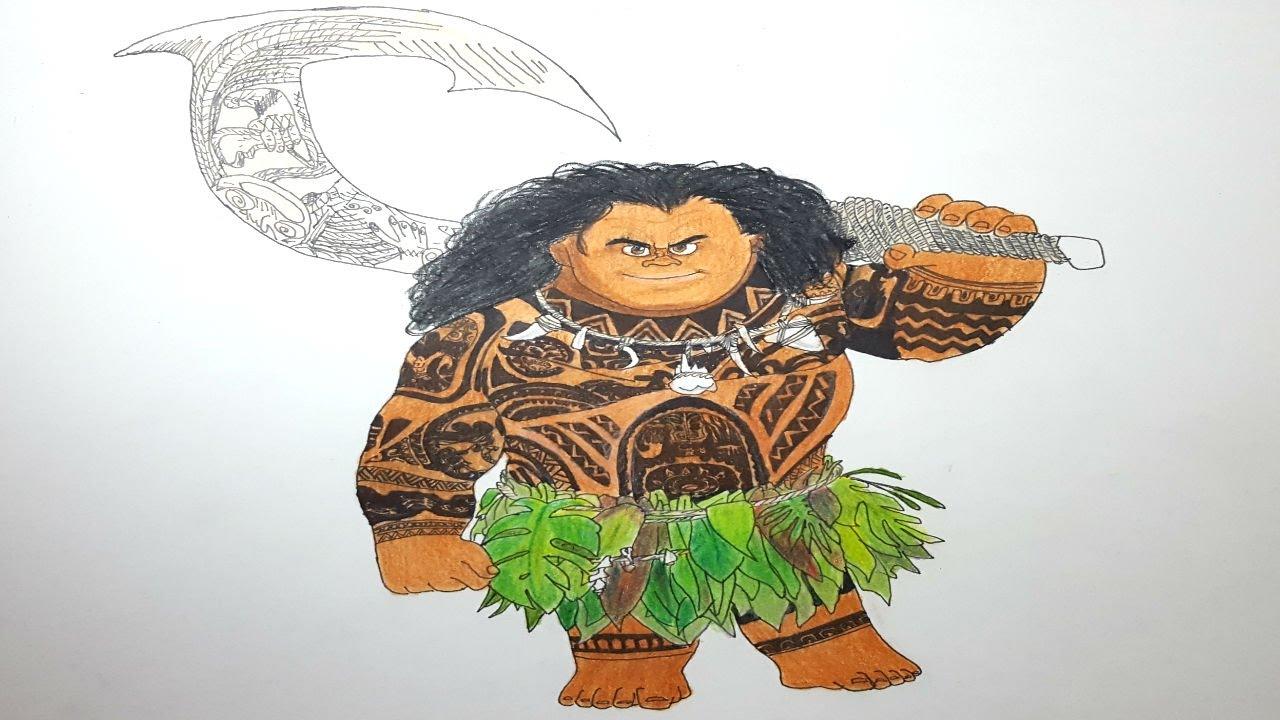Dibujo Para Colorear De Maui Personaje Película Moana: Maui Vaiana Para Colorear Dibujo De Maui De Moana Vaiana