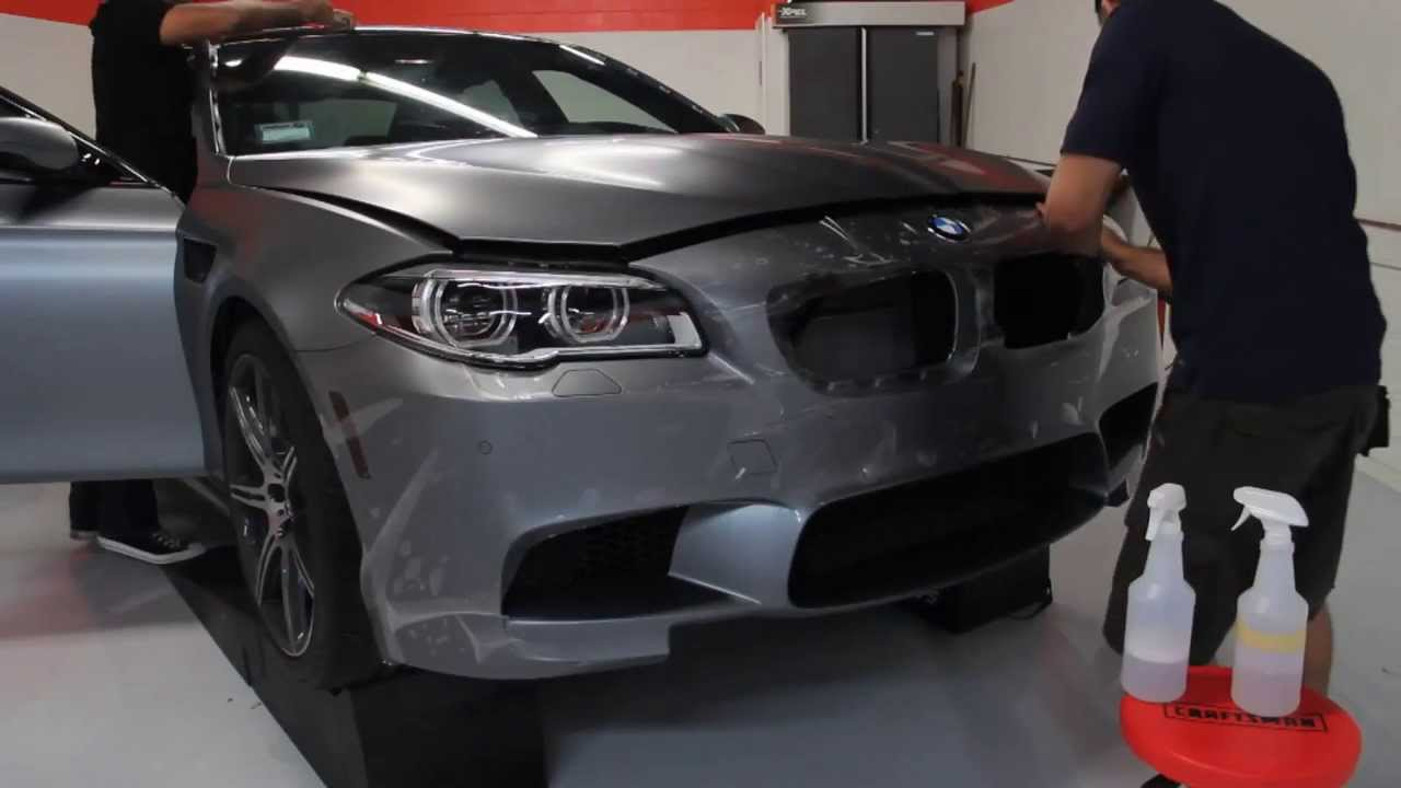 Unique Auto Films - BMW F10 M5 Frozen Grey Xpel Stealth Matte Clear Bra