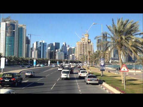 Qatar Downtown I Drive in the West Bay I Doha, Qatar