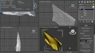 3D Max Использование модификатора Cloth(, 2010-07-10T17:07:28.000Z)