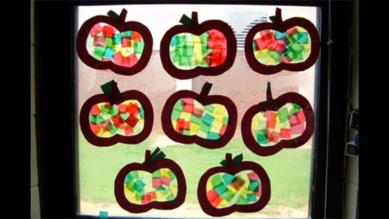 September Craft Ideas For Kids Part - 49: Easy And Simple DIY Apple Crafts For Kids - YouTube