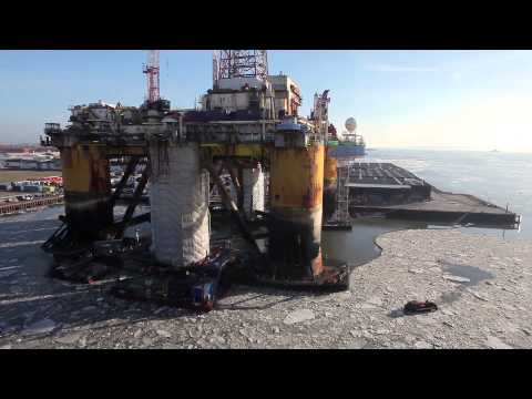 Semco Maritime - Rig Projects in Esbjerg Harbor
