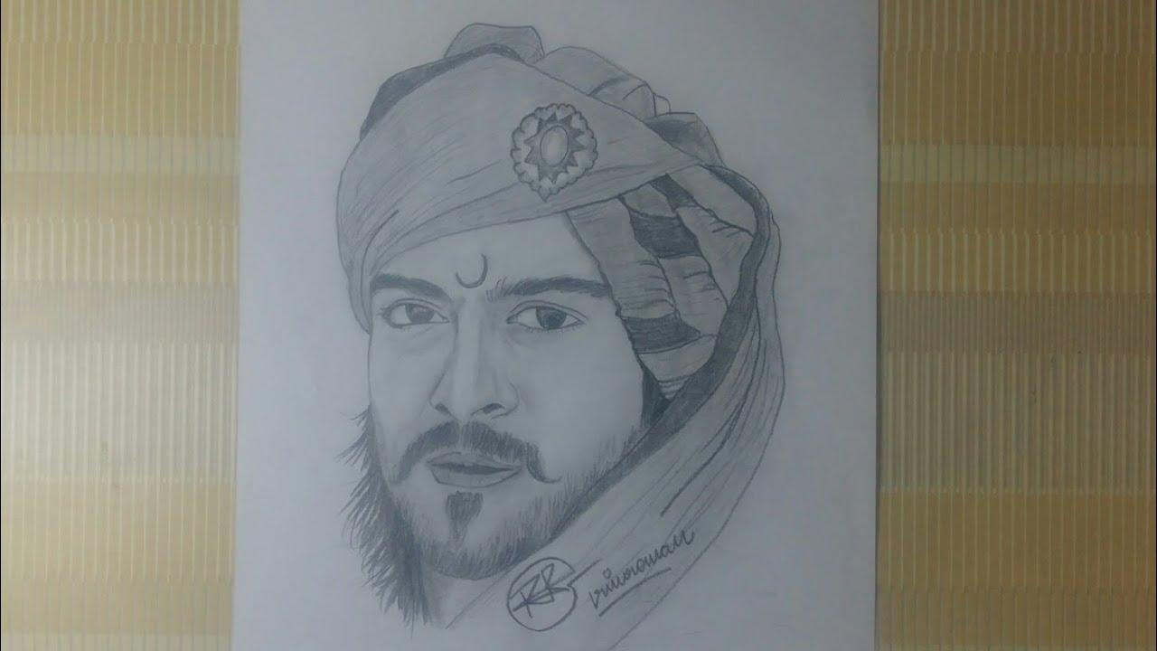 Drawing Ram charan in magadheera - YouTube