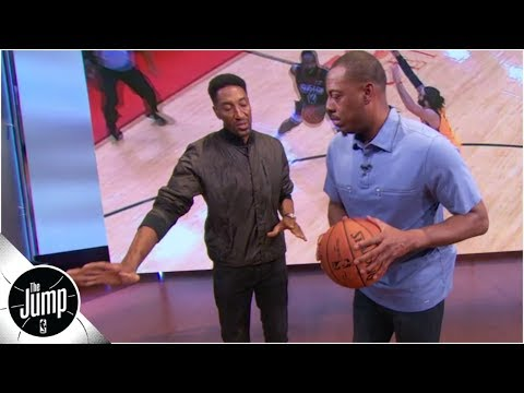 How to defend the step-back: Scottie Pippen demonstrates on Paul Pierce | The Jump: OT