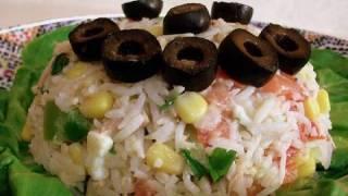 Moroccan Rice Tuna Salad Recipe - Cookingwithalia - Episode 105