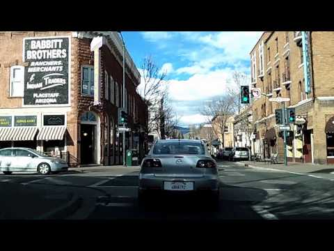 Driving Around Flagstaff, Arizona Time Lapse Dashcam