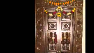Pooja Room Door Carving Designs