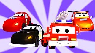 La Super Patrulla con el Coche de Carreras y el Coche Malo en Auto City | Dibujo Animado para niños