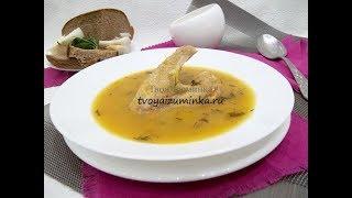 Суп пюре из кабачков на курином бульоне