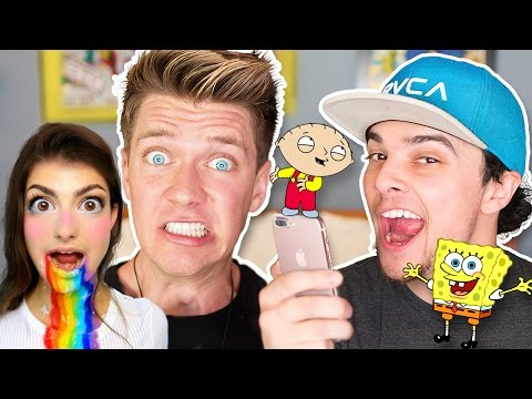 Pranking YOUTUBERS with iPhone 7 CARTOON Voice Impressions M