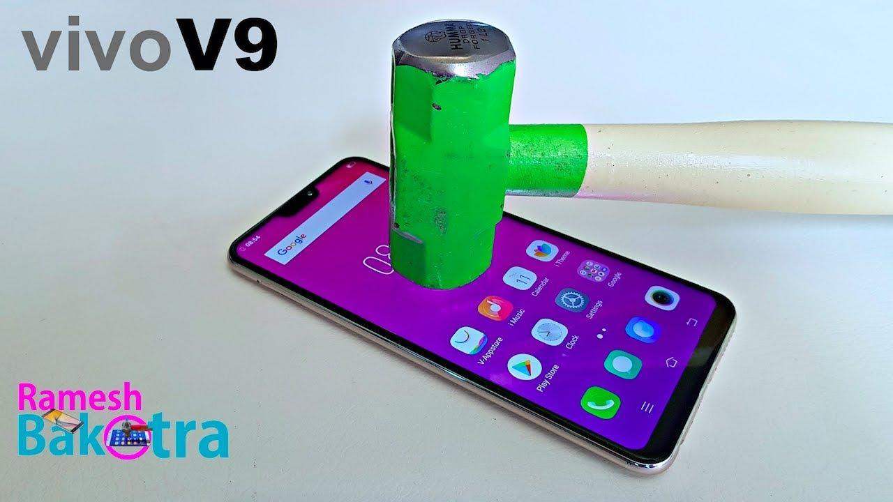 the latest 72e9d b84c0 Vivo V9 Screen Scratch Proof Glass Test