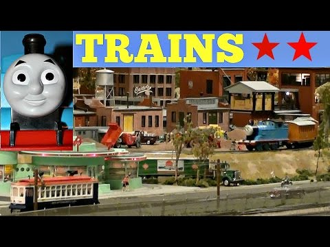 TRAINS for KIDS with THOMAS the TRAIN HUGE model train set
