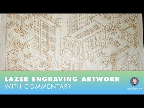 SpeedDraw: Laser Engraving on Wood with commentary