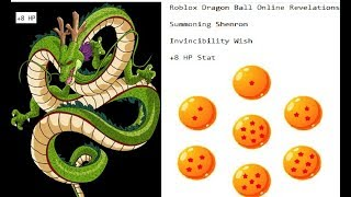 Roblox Dragon Ball Online Revelations Summoning Shenron Invincibility Wish! +8 HP